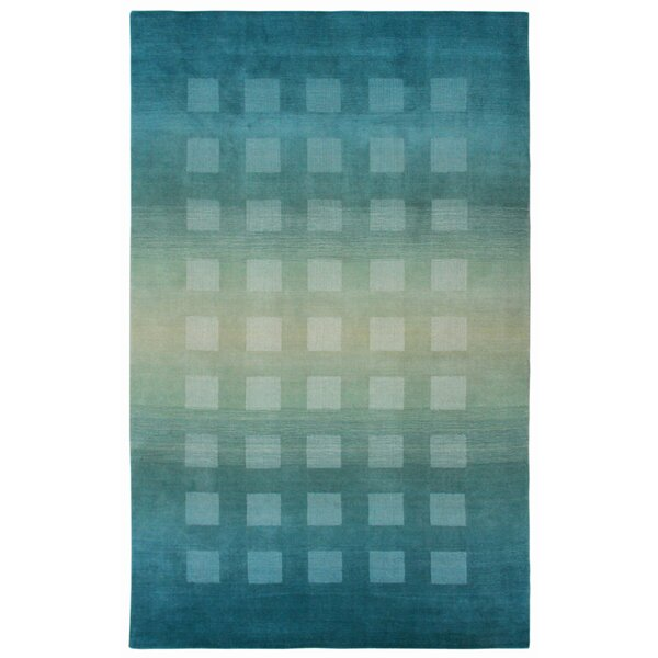 Lundin Hand-Loomed Blue Area Rug by Latitude Run