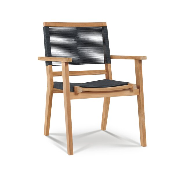 Oslo Stacking Teak Patio Dining Chair (Set of 4) by HiTeak Furniture