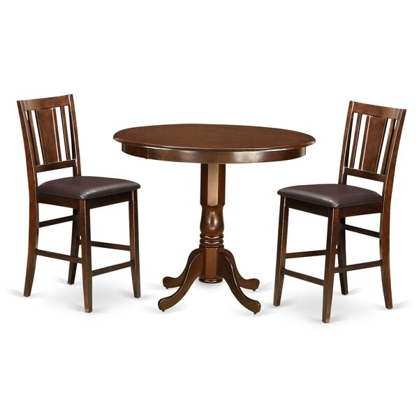 Trenton 3 Piece Counter Height Pub Table Set By Wooden Importers Savings