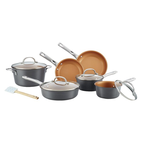 Ayesha Curry Hard Anodized Non-Stick Cookware Set (Set of 11) by Ayesha Curry