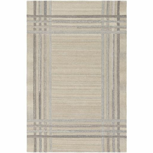 Ace Hand-Tufted Cream/White Area Rug by Williston Forge
