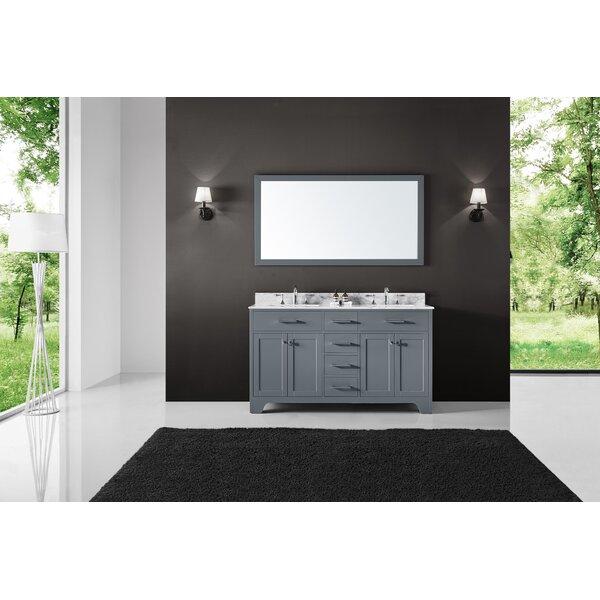 Cassel 60 Double Bathroom Vanity Set with Mirror
