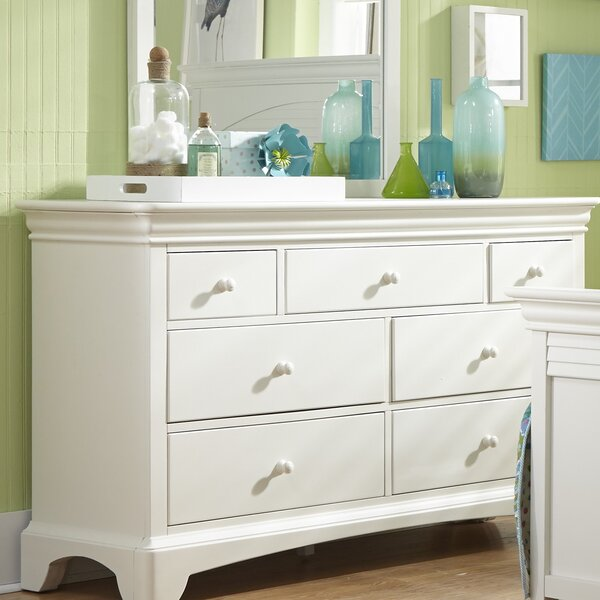 Crawfordville 7 Drawer Double Dresser by Harriet Bee