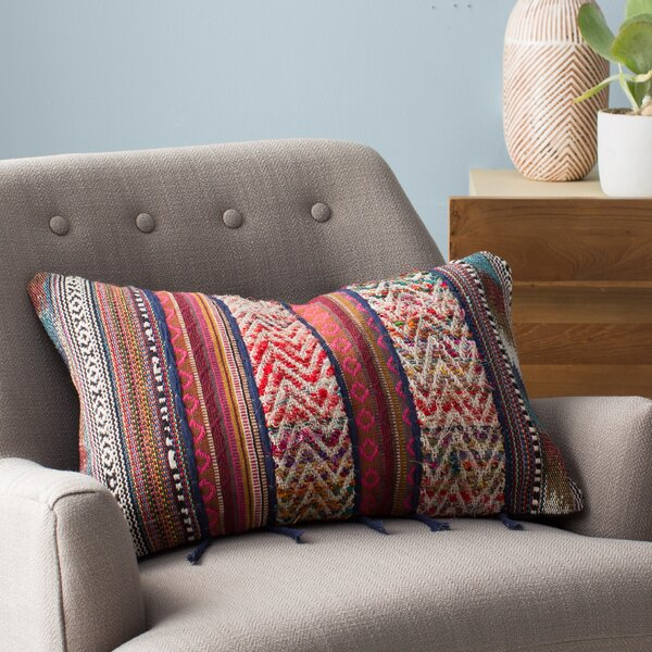 Cammi Rectangular Recycled Synthetic Fibers Throw Pillow by Mistana