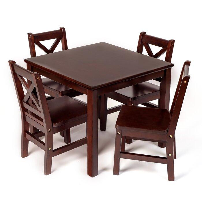 Kayli Kids 5 Piece Table and Chair Set