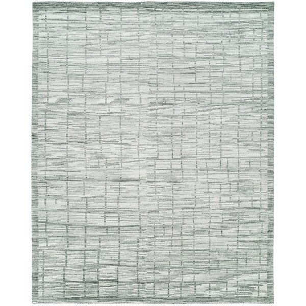 Shonda Hand-Knotted Wool Gray/Ivory Area Rug by Williston Forge