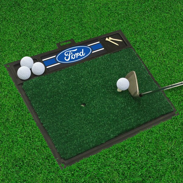 Ford - Ford Oval with Stripes Golf Hitting Doormat by FANMATS