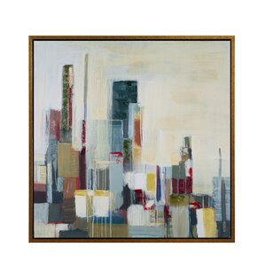 Skyscraper Horizon Framed Painting Print on Wrapped Canvas by Madison Park Signature