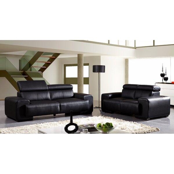 Leather Configurable Living Room Set by David Divani Designs