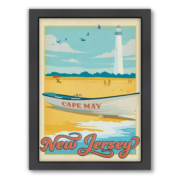 Cape May Framed Vintage Advertisement by East Urban Home