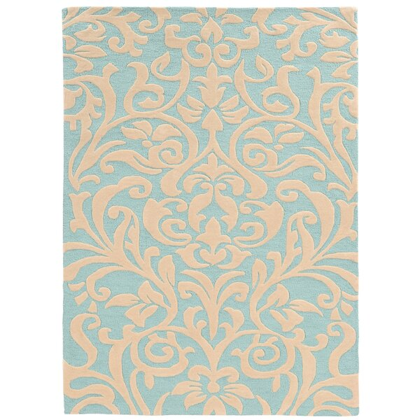 Mugge Hand-Tufted Blue/Beige Area Rug by Charlton Home