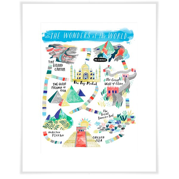 Ashely Wonders Of The World Paper Print by Harriet Bee