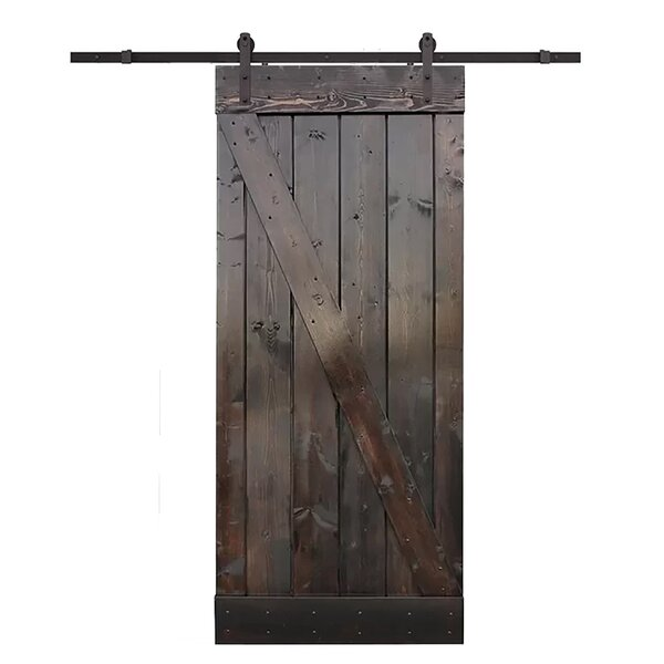 Knotty Solid Wood Room Divider Barn Door Slab by TMS