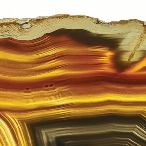 Golden Brown Agate Graphic Art Plaque by Empire Art Direct