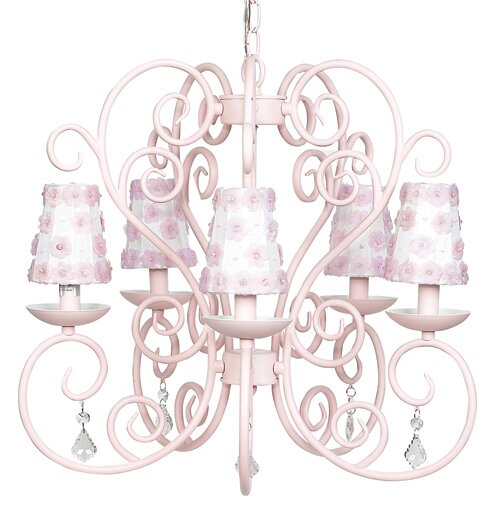 Carriage 5-Light Shaded Chandelier by Jubilee Collection