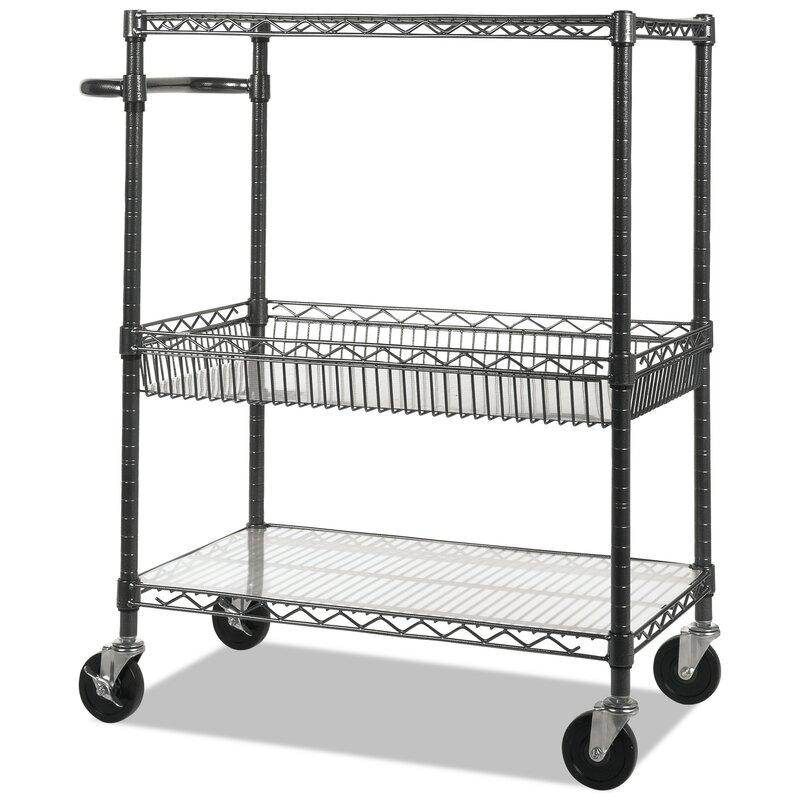 3 tier utility cart room essentials 40 alera