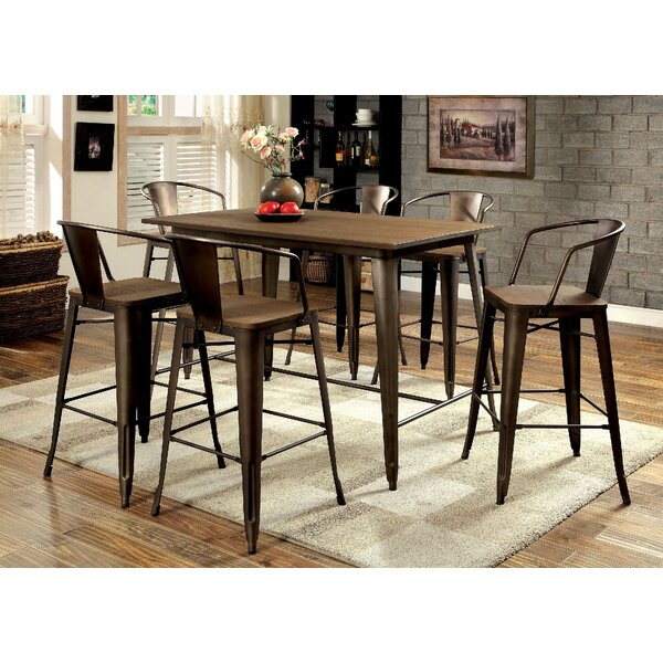 Bourk 7 Piece Pub Table Set by 17 Stories