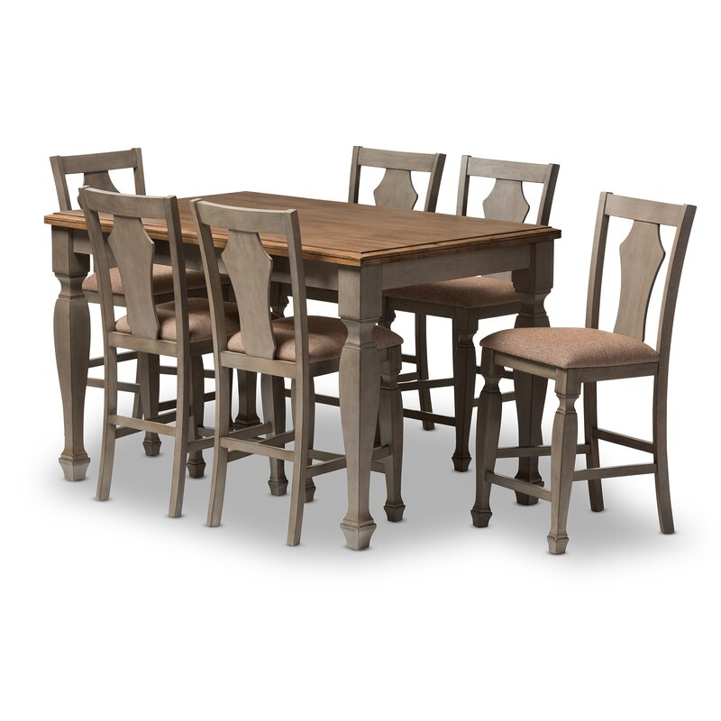 Martina 7 Piece Counter Height Dining Set
