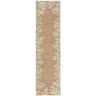 Beau Claycomb Coral Border Hand Tufted Neutral Indoor/Outdoor Area Rug