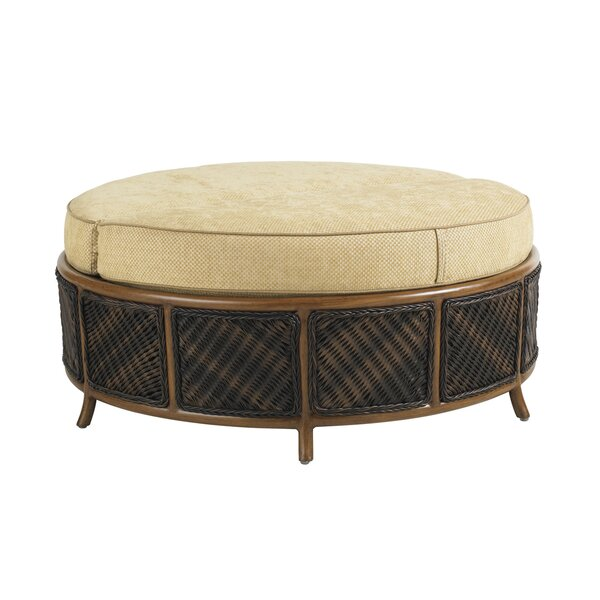 Island Estate Lanai Storage Outdoor Ottoman with Cushion by Tommy Bahama Outdoor