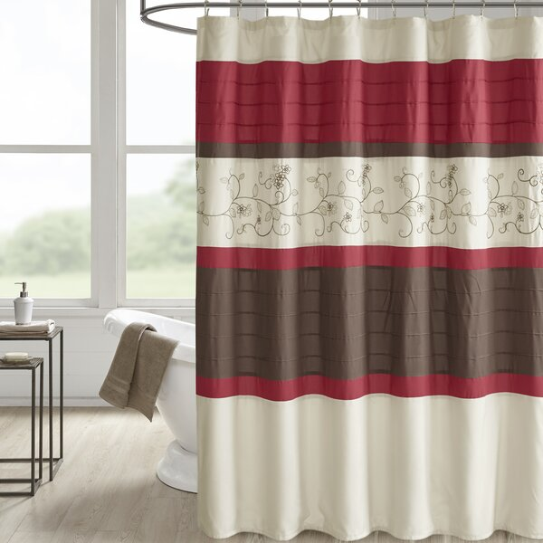 Hannan Embroidered Shower Curtain by Winston Porter