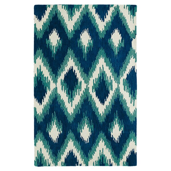 Powers Lake Blue & Green Area Rug by Bungalow Rose