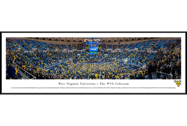 NCAA West Virginia University - Basketball by Christopher Gjevre Framed Photographic Print by Blakeway Worldwide Panoramas, Inc