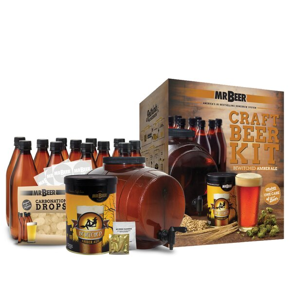 Mr. Beer Bewitched Amber Ale Complete Craft Beer Making Kit by Mr. Beer