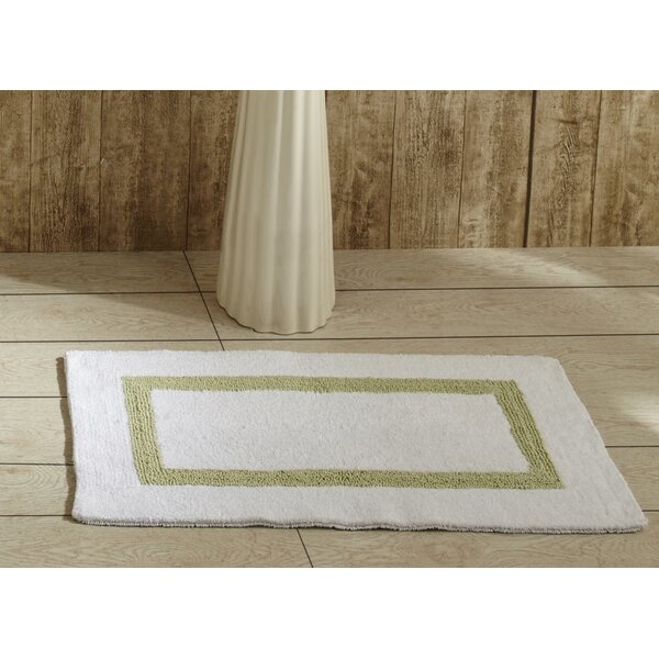 Khanh Rectangle 100% Cotton Reversible Striped Bath Rug