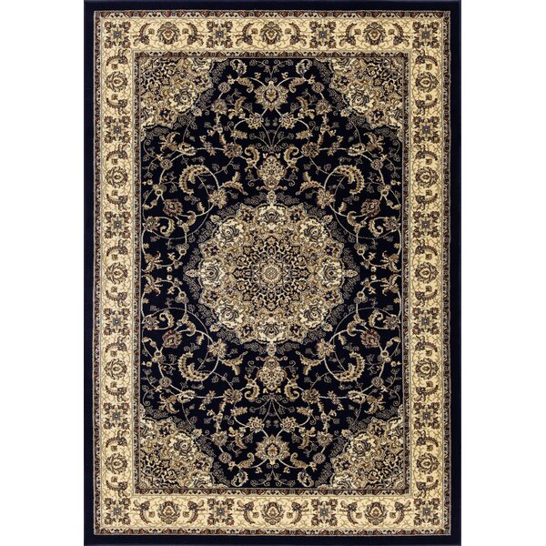 Elica Premium Traditional Navy Blue Area Rug by Astoria Grand
