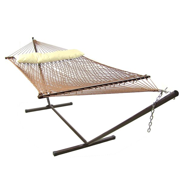 Dagmar Polyester Spreader Bar Hammock with Stand by Highland Dunes Highland Dunes