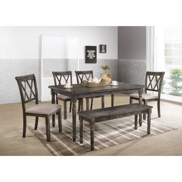 Sharp 6 Piece Dining Set by Gracie Oaks