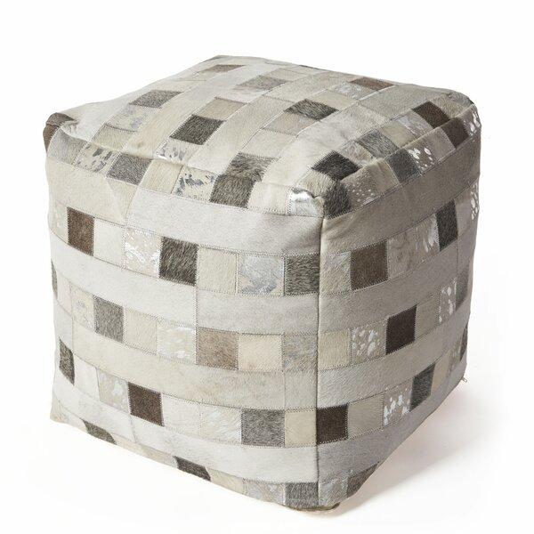 Home Décor Ritchie Hide Elements Leather Pouf