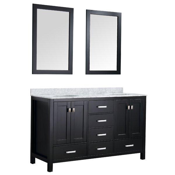 Tia 60 Double Bathroom Vanity Set with Mirror by Brayden Studio