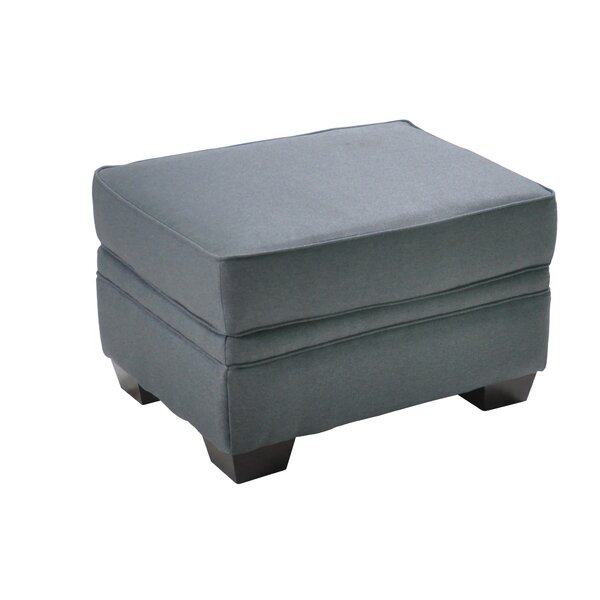 Hufnagel Stationary Ottoman by Charlton Home