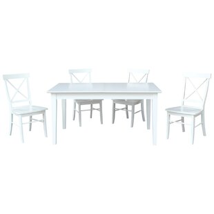 Willem 5 Piece Extendable Solid Wood Dining Set By August Grove