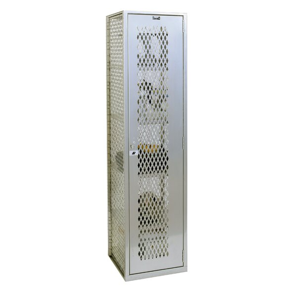 Welded 1 Tier 1 Wide Gym Locker by Hallowell