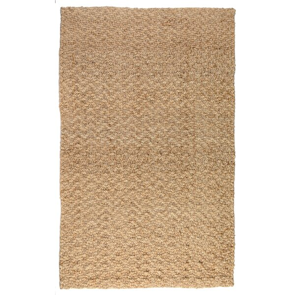 Chevron Gold Handspun Jute Area Rug by Kosas Home