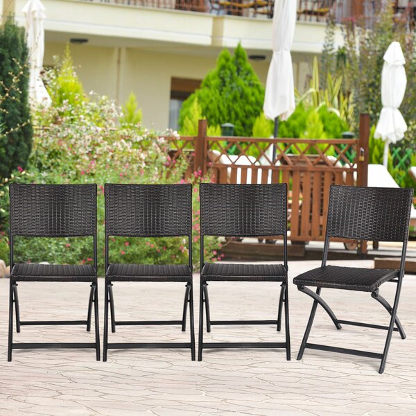 Joelle Folding Patio Dining Chair (Set of 4) by Bay Isle Home