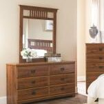 Ashland 6 Drawer Double Dresser with Mirror by Lang Furniture