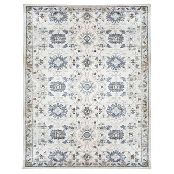One-of-a-Kind Erica Gray/Cream Area Rug by World Menagerie