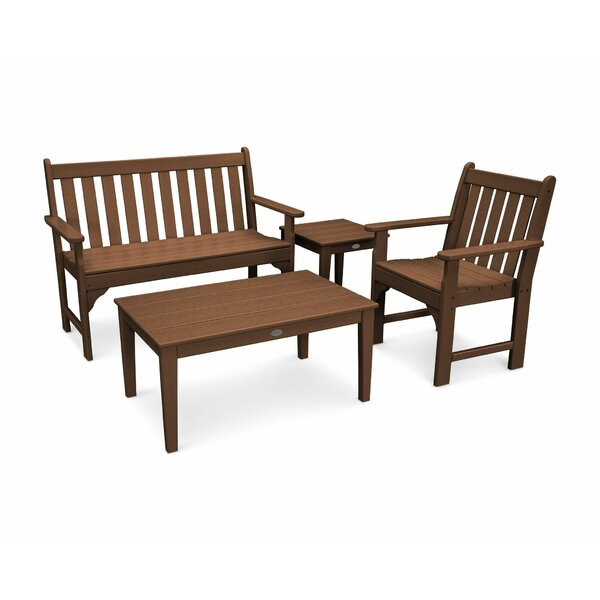 Vineyard 4-Piece Bench Seating Set by POLYWOOD POLYWOOD®