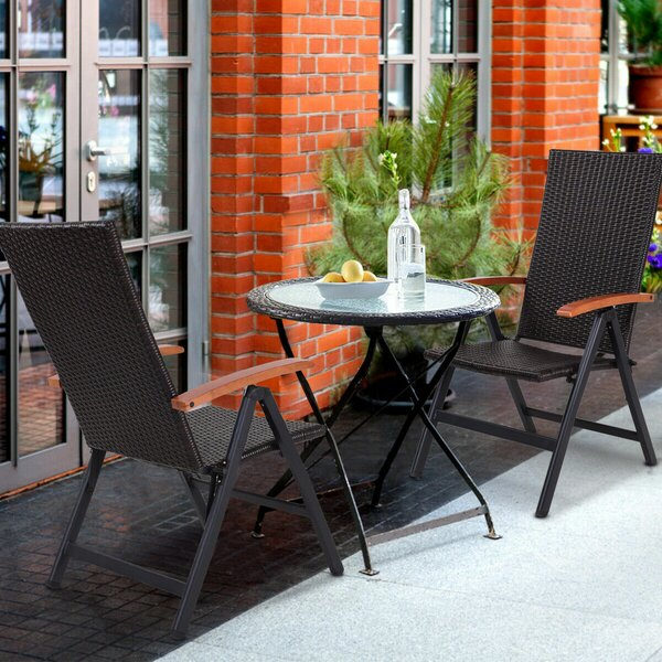 Letchworth Garden Recliner Patio Chair (Set of 2) by Freeport Park