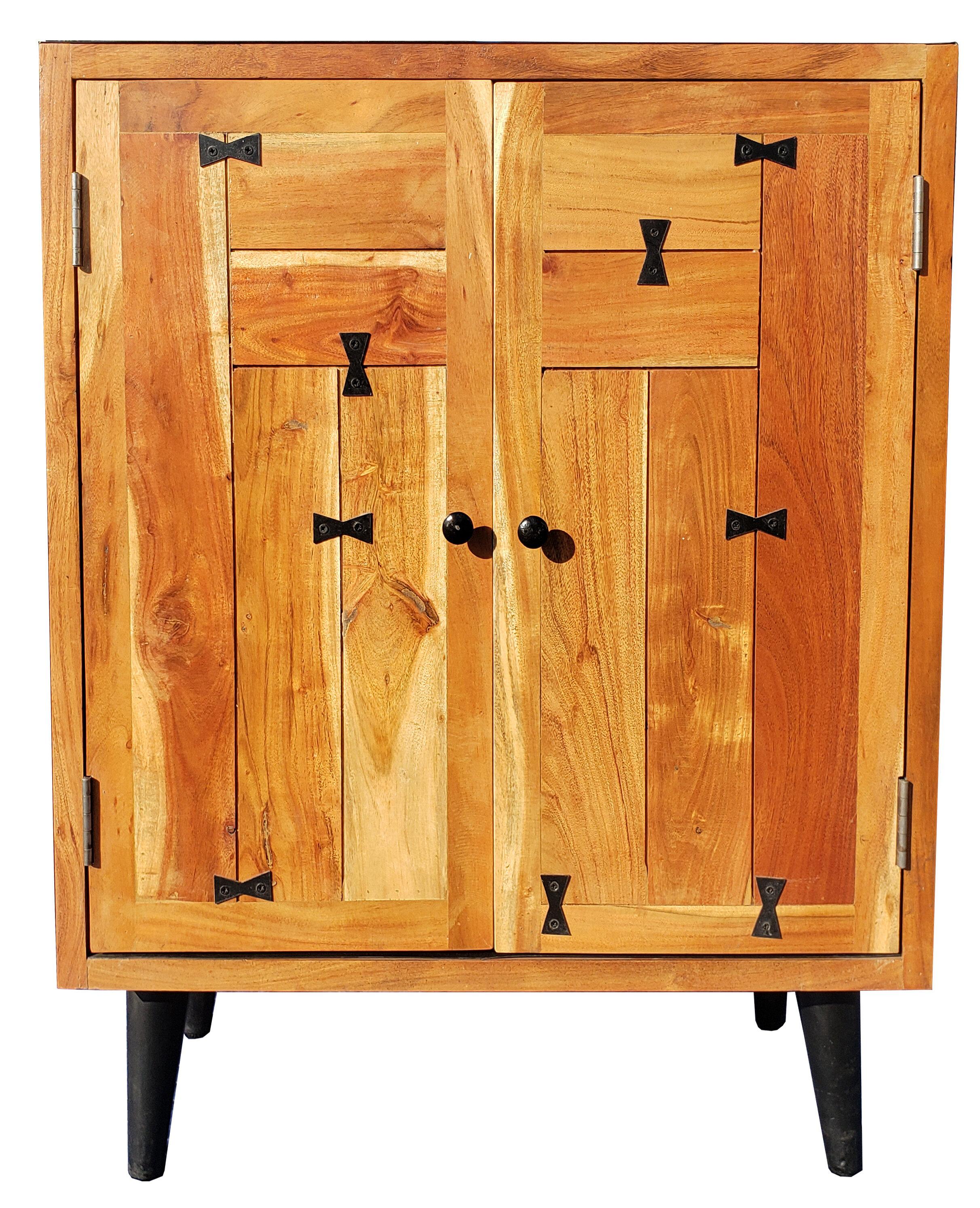 Hinz Acacia Wood 2 Door Accent Cabinet