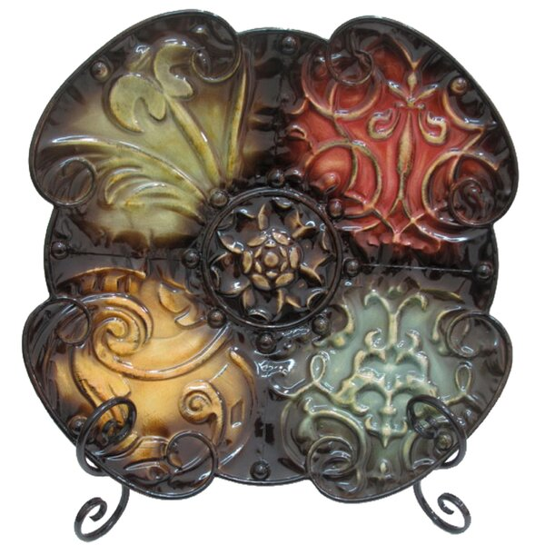 Abstract Metal Decorative Plate by World Menagerie