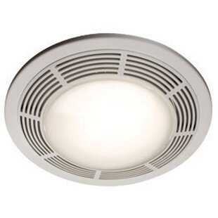 Bathroom fans youll love wayfair ceiling ventilation 100 cfm bathroom fan with light aloadofball Choice Image