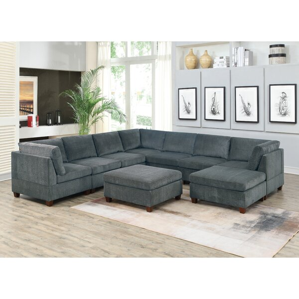 Basti Reversible Modular Sectional With Ottoman By Ebern Designs