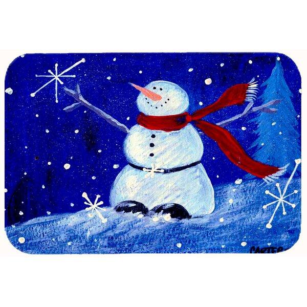 Happy Holidays Snowman Bath Rug