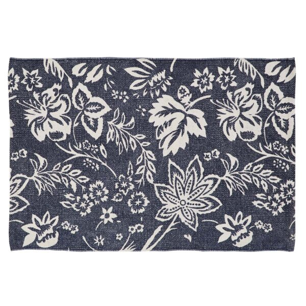 Messina Navy Area Rug by Charlton Home