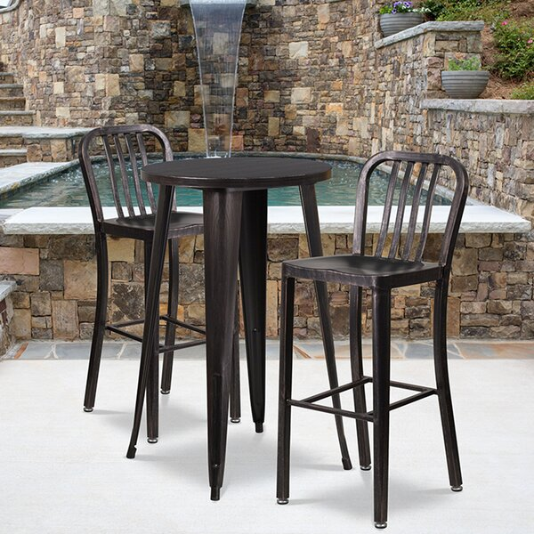Rumi 3 Piece Bar Height Dining Set by Williston Forge